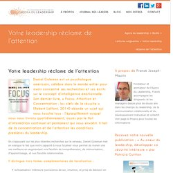 Votre leadership réclame de l'attention - Agora du leadership