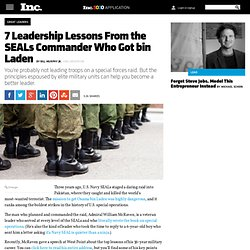 7 Leadership Rules From the SEALs Commander Who Got bin Laden