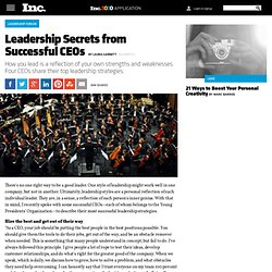 Leadership Secrets from Successful CEOs
