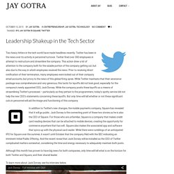 Leadership Shakeup in the Tech Sector