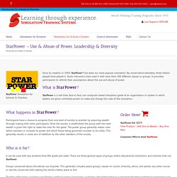 StarPower - Use & Abuse of Power, Leadership & Diversity - Simulation Training Systems