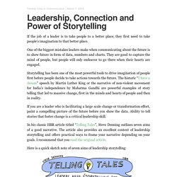 Leadership, Connection and Power of Storytelling