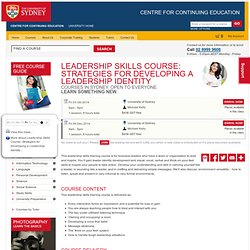 Leadership Skills Course: Strategies for Developing a Leadership Identity - Courses Training Learn