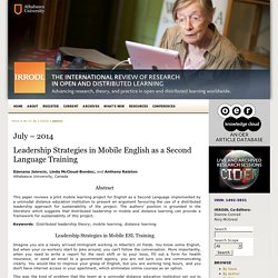 Leadership strategies in mobile English as a Second Language training