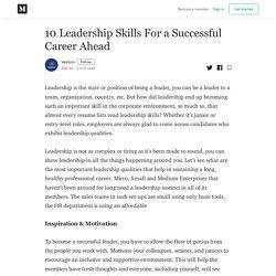 10 Leadership Skills For a Successful Career Ahead