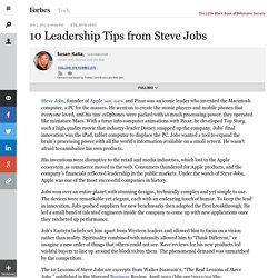 10 Leadership Tips from Steve Jobs
