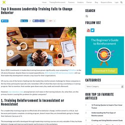 Top 3 Reasons Leadership Training Fails to Change Behavior