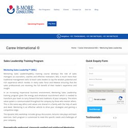 Top Quality Sales Leadership Training Program In India