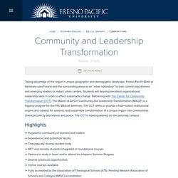 Community and Leadership Transformation