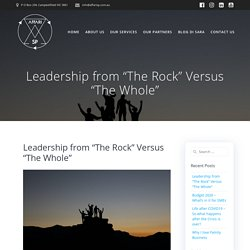 "Leadership from ""The Rock"" Versus ""The Whole"" - Affari SP"