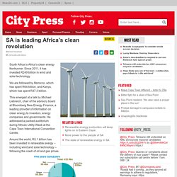 SA is leading Africa's clean revolution