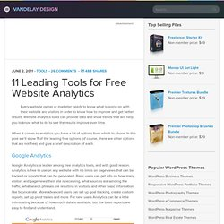 11 Leading Tools for Free Website Analytics