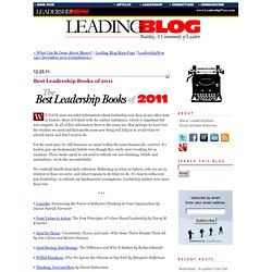 Best Leadership Books of 2011
