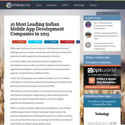10 Most Leading Indian Mobile App Development Companies in 2015