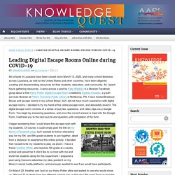 Leading Digital Escape Rooms Online during COVID-19