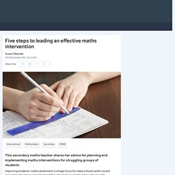 Five steps to leading an effective maths intervention