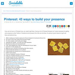 Ways to get more from Pinterest | Pin Marketing