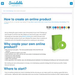 How to create an online product