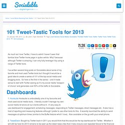 101 Tweet-Tastic tools for 2013