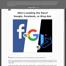 Who's Leading the Race? Google, Facebook, or Bing Ads