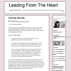 Leading From The Heart » Learning, Naturally