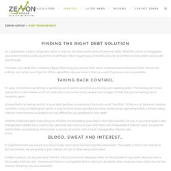 Debt solutions Gold Coast – Zenon Group