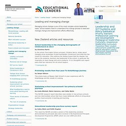 Leading and managing change / Leading change / Home - Educational Leaders