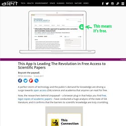 This app is leading the revolution in free access to scientific papers