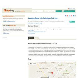 Leading Edge Info Solutions Pvt. Ltd., Mohali Sas Nagar Punjab - Web Design