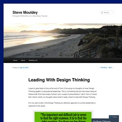 Leading With Design Thinking
