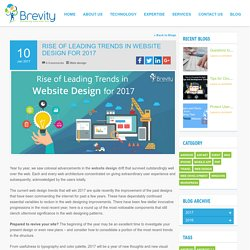 Rise of Leading Trends in Website Design for 2017