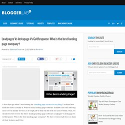 Leadpages Vs Instapage Vs GetResponse: Who is the best landing page company?