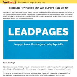 Leadpages Review: More than Just a Landing Page Builder