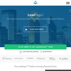 LeadPages® software - mobile responsive landing page generator