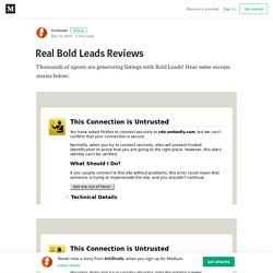 Real Bold Leads Reviews – boldleads – Medium