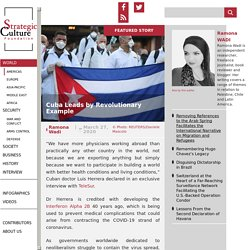 Cuba Leads by Revolutionary Example