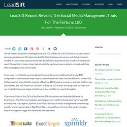 The LeadSift Blog: social media, social leads, social selling and social insights for your business.