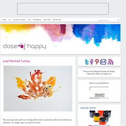 Leaf Painted Turkey - Dose of Happy