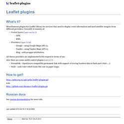 leaflet-plugins