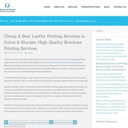 Cheap & Best Leaflet Printing Services in Dubai