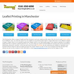 Cheap Leaflet Printing Manchester