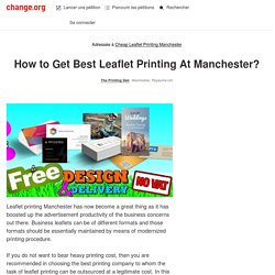 How to Get Best Leaflet Printing At Manchester?