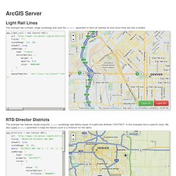 Leaflet Vector Layers - ArcGIS Server Demo