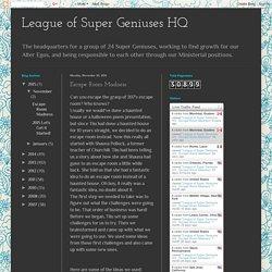 League of Super Geniuses HQ : Escape Room Madness