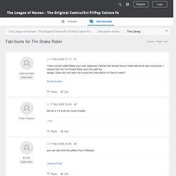 Tabi boots for Tim Drake Robin - The League of Heroes - The Original Comics/Sci Fi/Pop Culture Fa