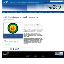 ANC Youth League to elect its leadership:Tuesday 25 August 2015