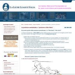 """La Leche League - La posizione semisdraiata, o """"posizione a Stile libero"""""""
