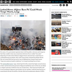 Toxic Burn Pits