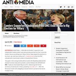 Leaked Emails Prove DNC Used Media to Rig Election for Hillary