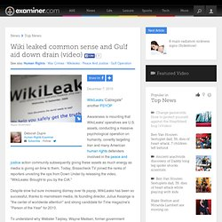 Wiki leaked common sense and Gulf aid down drain (video) - National Human Rights